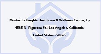 Montecito Heights Healthcare & Wellness Centre, Lp
