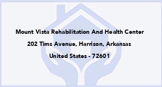 Mount Vista Rehabilitation And Health Center