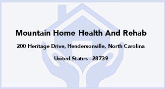 Mountain Home Health And Rehab