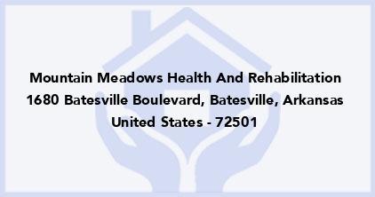 Mountain Meadows Health And Rehabilitation