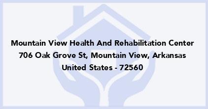 Mountain View Health And Rehabilitation Center