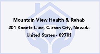 Mountain View Health & Rehab
