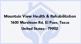 Mountain View Health & Rehabilitation