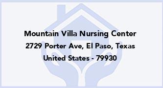 Mountain Villa Nursing Center