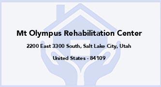 Mt Olympus Rehabilitation Center