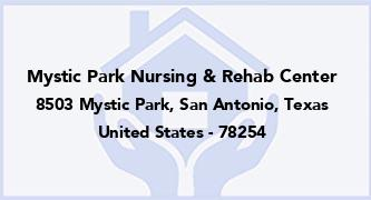 Mystic Park Nursing & Rehab Center