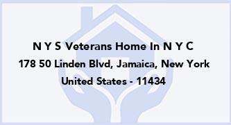 N Y S Veterans Home In N Y C