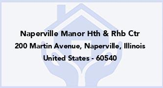 Naperville Manor Hth & Rhb Ctr