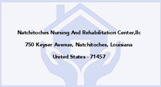 Natchitoches Nursing And Rehabilitation Center,Llc
