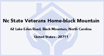 Nc State Veterans Home-Black Mountain