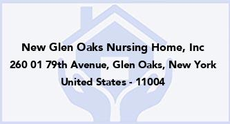 New Glen Oaks Nursing Home, Inc