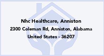 Nhc Healthcare, Anniston