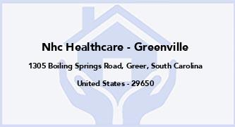 Nhc Healthcare - Greenville