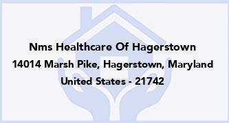 Nms Healthcare Of Hagerstown