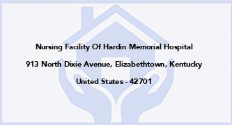 Nursing Facility Of Hardin Memorial Hospital