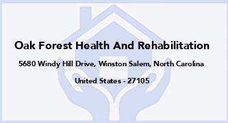 Oak Forest Health And Rehabilitation