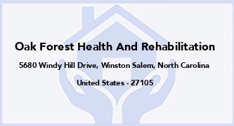 Oak Forest Health And Rehabilitation