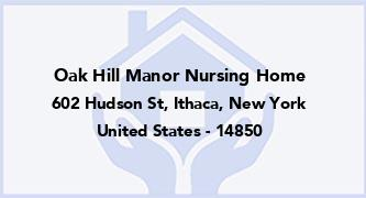 Oak Hill Manor Nursing Home