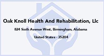 Oak Knoll Health And Rehabilitation, Llc