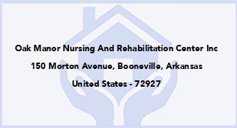 Oak Manor Nursing And Rehabilitation Center Inc