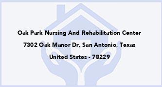 Oak Park Nursing And Rehabilitation Center