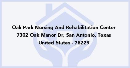 Oak Park Nursing And Rehabilitation Center