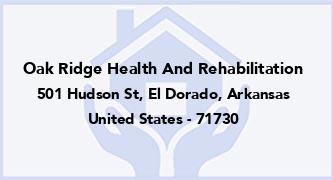 Oak Ridge Health And Rehabilitation