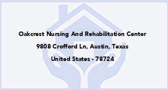 Oakcrest Nursing And Rehabilitation Center