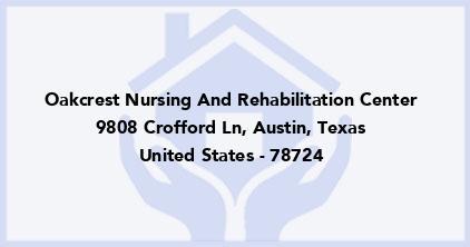 Oakcrest Nursing And Rehabilitation Center