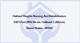 Oakland Heights Nursing And Rehabilitation