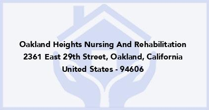 Oakland Heights Nursing And Rehabilitation