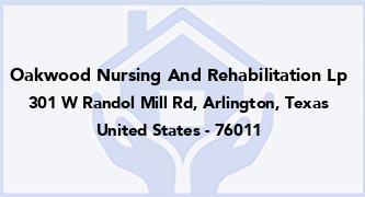 Oakwood Nursing And Rehabilitation Lp