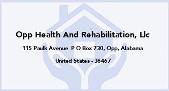 Opp Health And Rehabilitation, Llc
