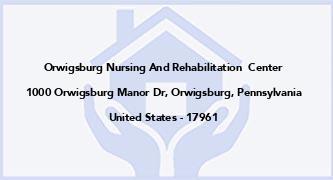 Orwigsburg Nursing And Rehabilitation  Center