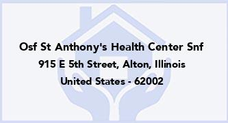 Osf St Anthony'S Health Center Snf
