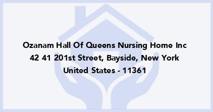 Ozanam Hall Of Queens Nursing Home Inc