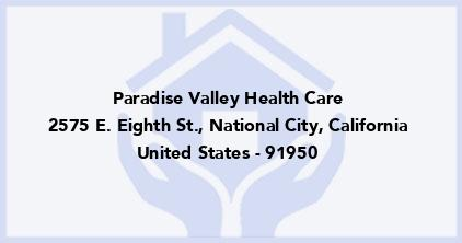 Paradise Valley Health Care