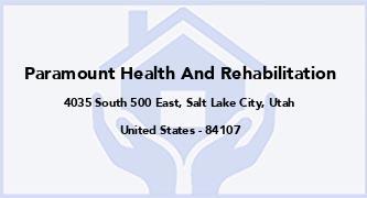 Paramount Health And Rehabilitation