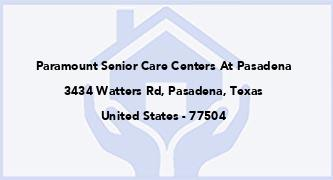 Paramount Senior Care Centers At Pasadena