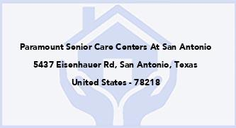 Paramount Senior Care Centers At San Antonio
