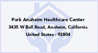 Park Anaheim Healthcare Center