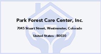 Park Forest Care Center, Inc.