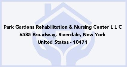 Park Gardens Rehabilitation & Nursing Center L L C