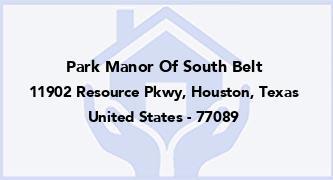Park Manor Of South Belt