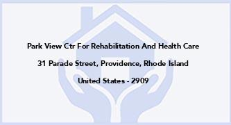Park View Ctr For Rehabilitation And Health Care