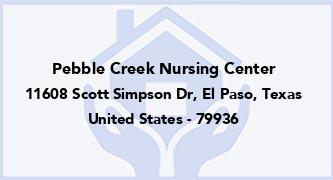 Pebble Creek Nursing Center