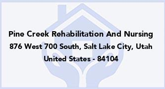 Pine Creek Rehabilitation And Nursing