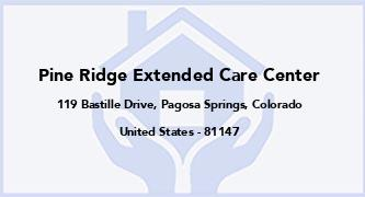 Pine Ridge Extended Care Center