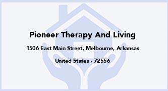 Pioneer Therapy And Living