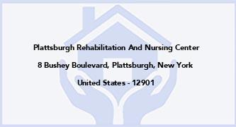 Plattsburgh Rehabilitation And Nursing Center